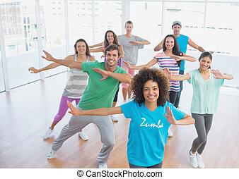 lehrer, pilates, klasse, übung, fitness