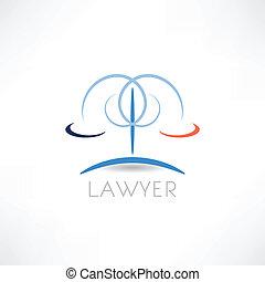 lei, abstração, ícone