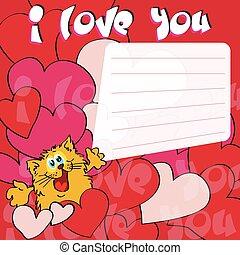 lei, amore, cartolina auguri