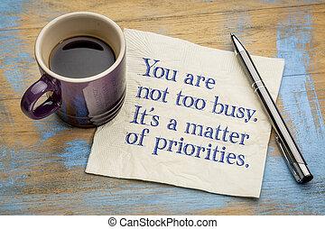lei, ara, non, anche, occupato, esso, è, uno, questione, di, priorities