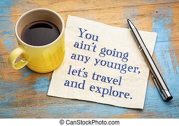 lei, ara, non, andare, qualsiasi, più giovane, permettere, ci, viaggiare