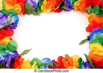 lei border - a colorful border made of a hawaiian lei