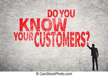 lei, customers?, sapere, tuo