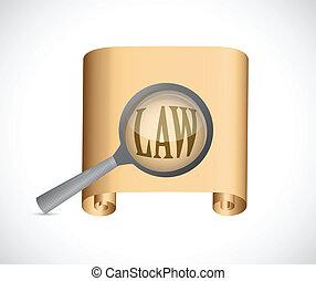 lei, documentos, conceito, ilustração, desenho