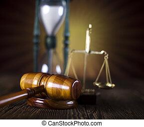 lei, e, justiça, conceito