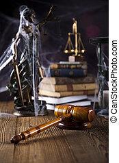 lei, e, justiça, conceito, legal, código
