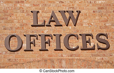 lei, escritórios, sinal