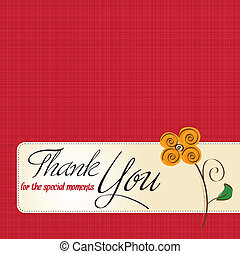 lei, fiore, ringraziare, scheda, augurio