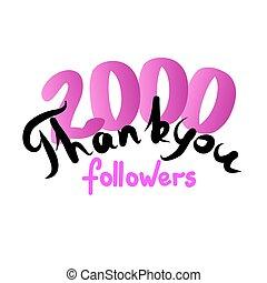 lei, followers., amici, ringraziare, rete