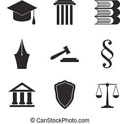lei, jogo, ícone