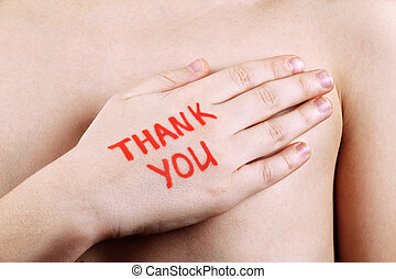 lei, ringraziare