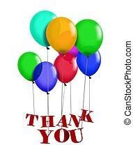 lei, ringraziare, balloon