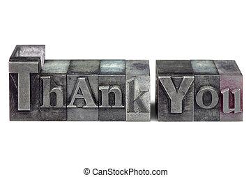 lei, ringraziare, letterpress