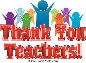 lei, ringraziare, teachers!