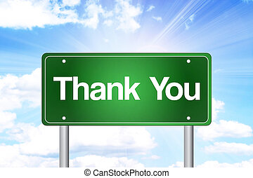 lei, verde, ringraziare, segno strada
