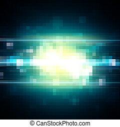 leichte geschwindigkeit, pixel, hintergrund, digital