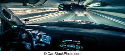 leichte geschwindigkeit, schnell, fahren, reisen