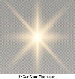 leichter effekt, glühen