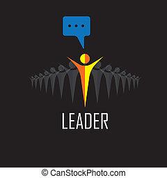leider, bewindvoering, winnaar, succes, -, vector, icons.