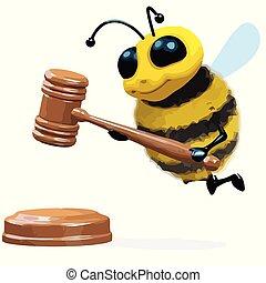 leilão, 3d, abelha