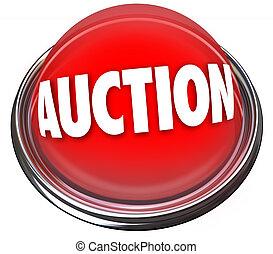 leilão, luz, botão, venda, item, intermitente, alto, bidder