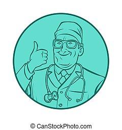 leinart graphics doctor, thumb up gesture