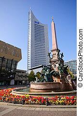 Leipzig, Germany - Southward of Augustusplatz(Augustus...