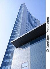 Leipzig, Germany - City Hochhaus in Leipzig, Saxony,...