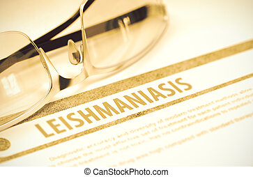 leishmaniasis., medicine., illustration., 3
