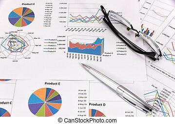 leistung, analysis., geschaeftswelt