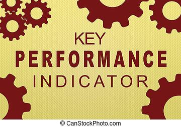 leistung, indikator, begriff, (kpi), schlüssel