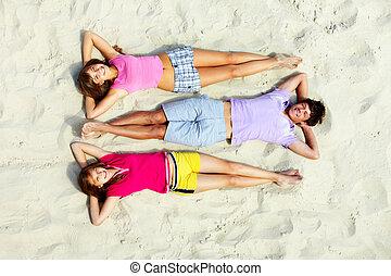 Leisure on beach