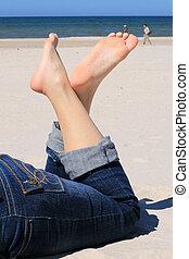 Leisure on the beach