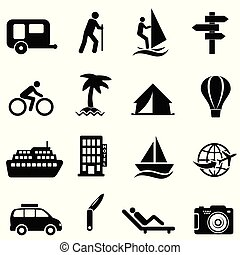 Leisure, recreation and outdoor icons