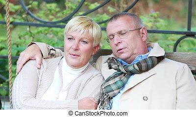 Leisurely weekend - Mature couple spending their weekend in...