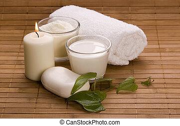 leite, banho