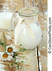 leite jarro, tabela madeira