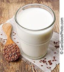 leite, semente, linho