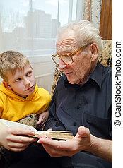 leitura, avô