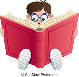 leitura, criança