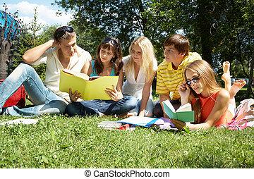 leitura, exterior