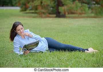 leitura, lazer
