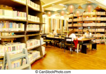 leitura, modernos, library., estudante