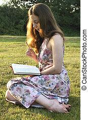 leitura, parque