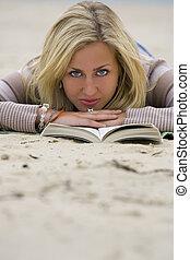 leitura, praia