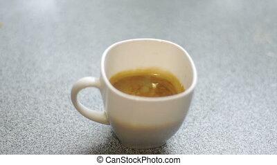 leje, kawa, espresso, mleczny