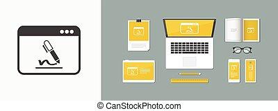 lejlighed, betalingsvilkår, -, abonnere, vektor,...