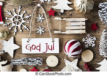 Lejlighed, betyder, Gud, lægge,  jul,  Rustic,  Merry, Jul