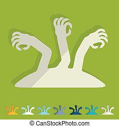 lejlighed, design:, hånd