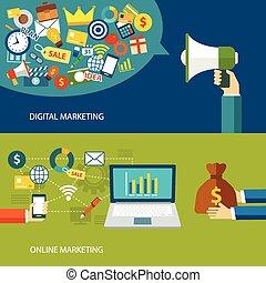 lejlighed, digital konstruktion, online, markedsføring